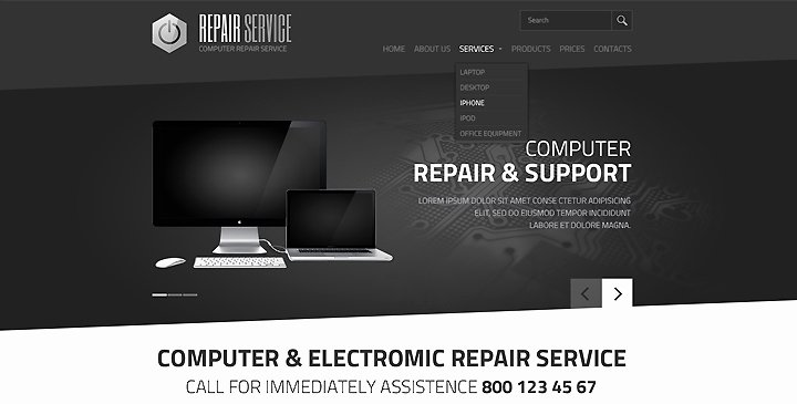 Computer Repair Web Template Awesome Puter Electronic Service HTML Template