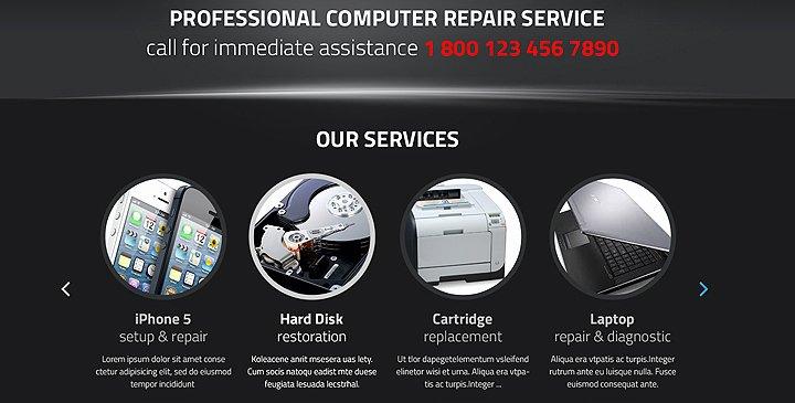 Computer Repair Web Template Beautiful Puter Repair Wordpress theme Pc Repair Template
