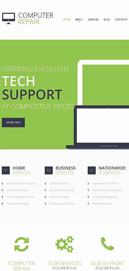 Computer Repair Web Template Best Of Puter Repair Responsive Website Template