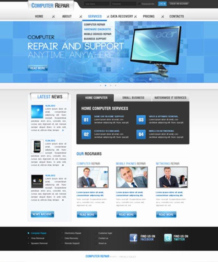 Computer Repair Web Template Elegant 9 Adorable Website themes for Puter Repair