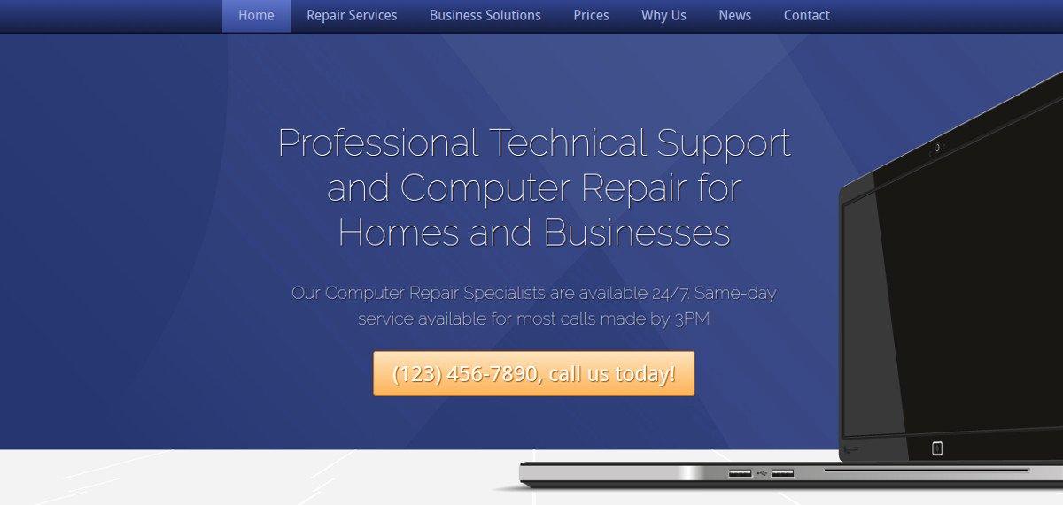 Computer Repair Web Template Fresh 10 Puter Repair Website Templates & themes