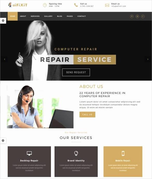 Computer Repair Web Template Inspirational 28 Puter Repair Website themes & Templates