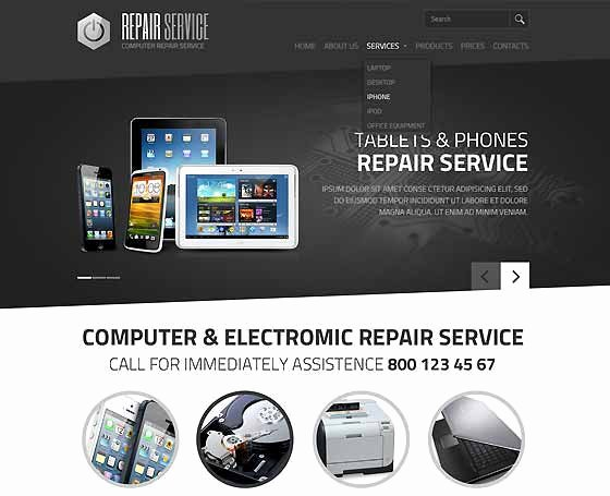 Computer Repair Web Template Lovely Puter Repair Website Templates Pc Repair themes