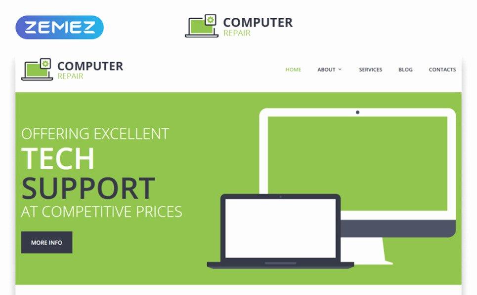 Computer Repair Web Template New Puter Repair Responsive Website Template