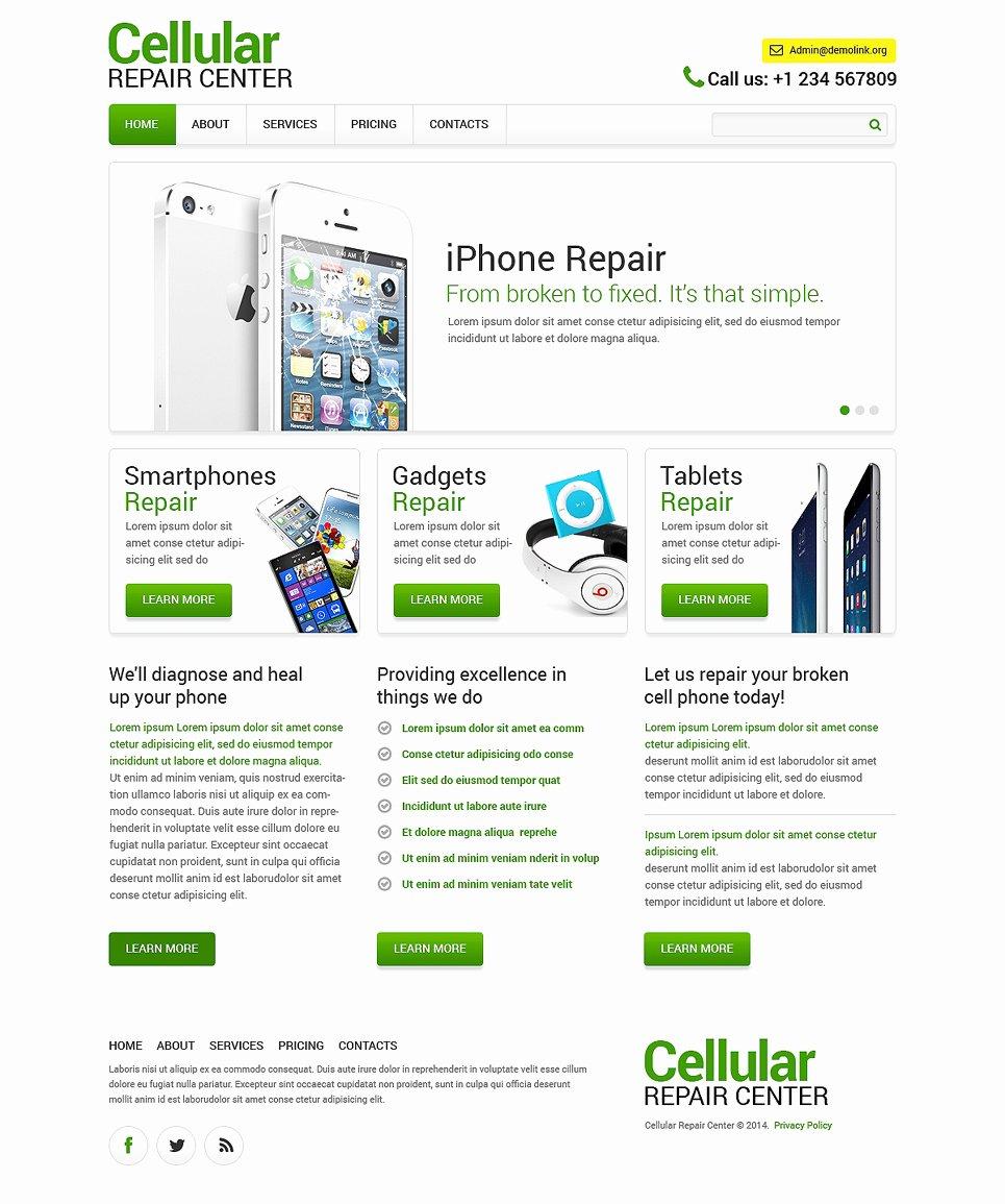 Computer Repair Web Templates Elegant Puter Repair Responsive Website Template