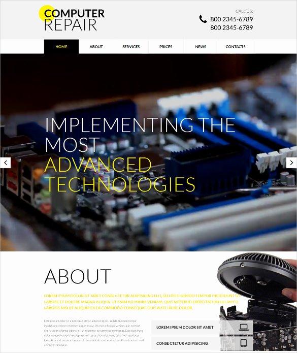 Computer Repair Web Templates Luxury 28 Puter Repair Website themes & Templates