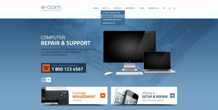 Computer Repair Web Templates Luxury 5 top Ranked Puter Repair Website Templates