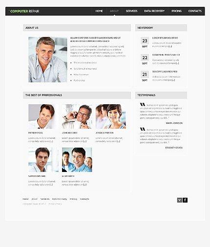 Computer Repair Web Templates Luxury Puter Repair Website Template