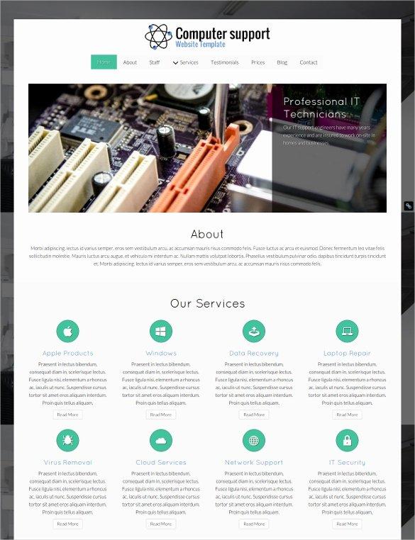Computer Repair Web Templates New 28 Puter Repair Website themes & Templates