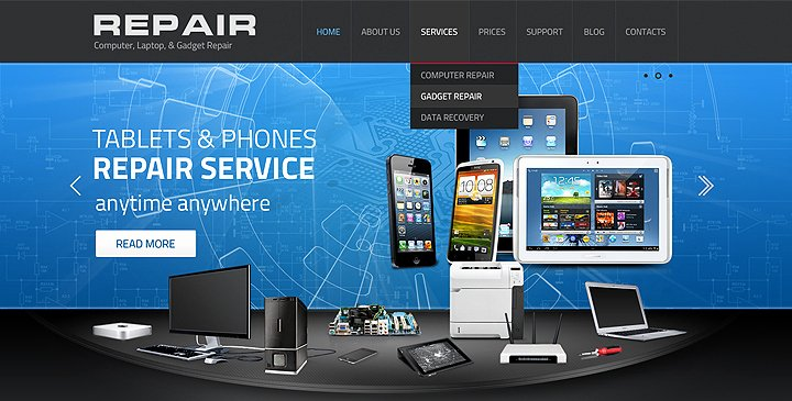 Computer Repair Website Template Beautiful 5 top Ranked Puter Repair Website Templates