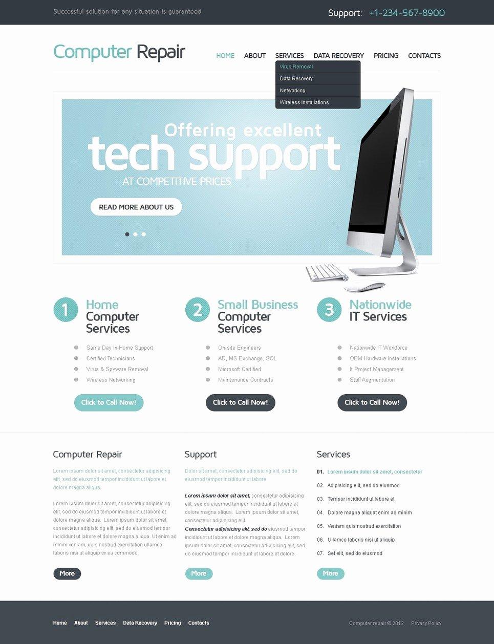 Computer Repair Website Template Elegant Puter Repair Website Template