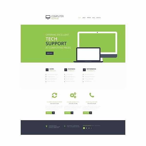 Computer Repair Website Template Free Luxury Puter Repair Responsive Website Template Discounted Templatemonster HTML Website