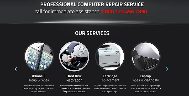 Computer Repair Website Template Free New Puter Repair Wordpress theme Pc Repair Template
