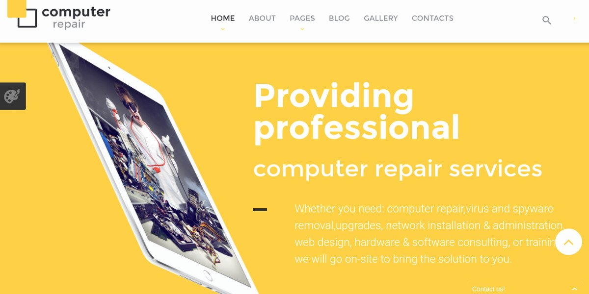 Computer Repair Website Template Fresh 10 Puter Repair Website Templates & themes
