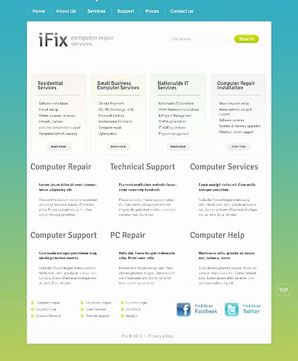 Computer Repair Website Template Fresh Puter Repair Website Template