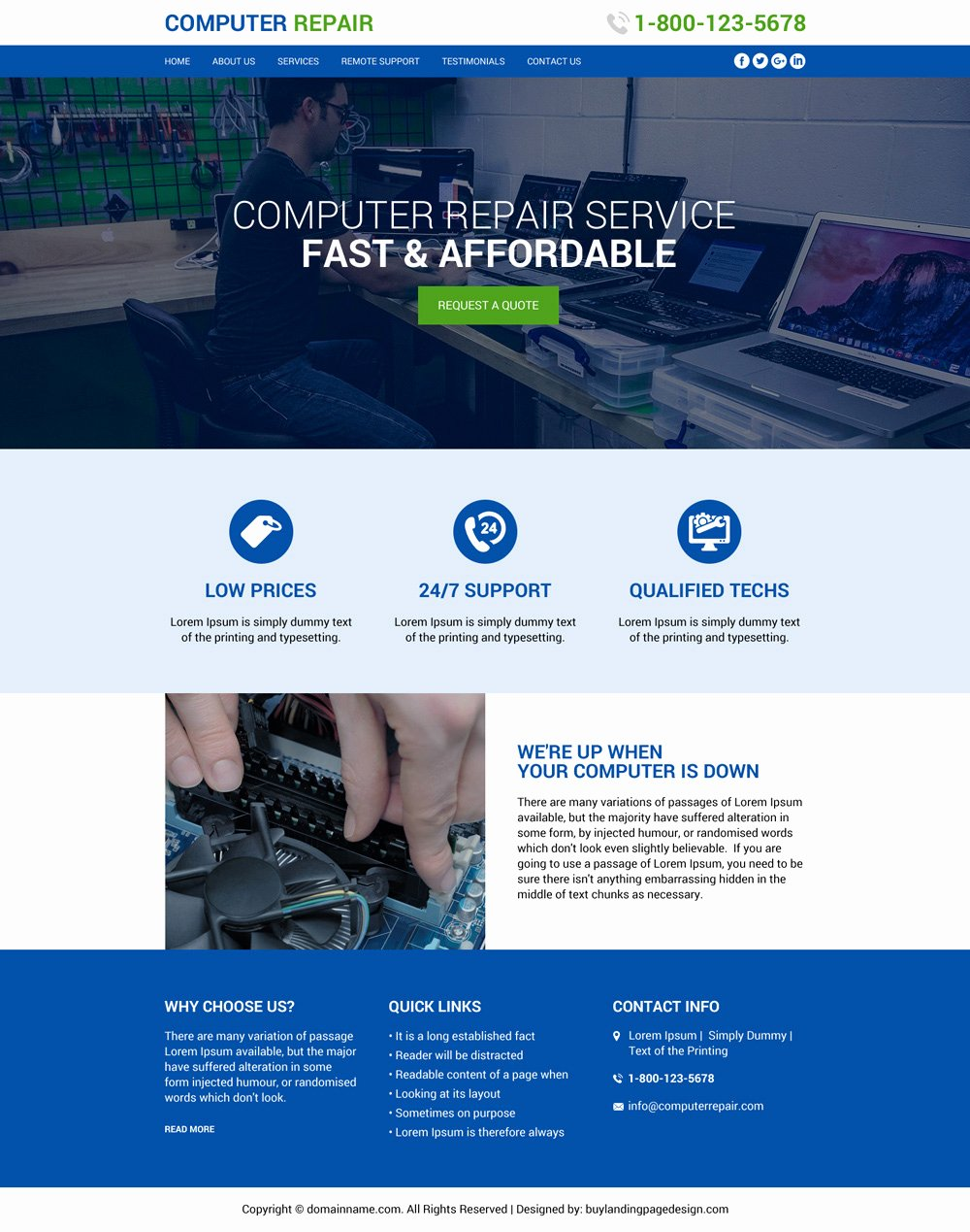 Computer Repair Website Template Inspirational Puter Repair Service Best Website Design