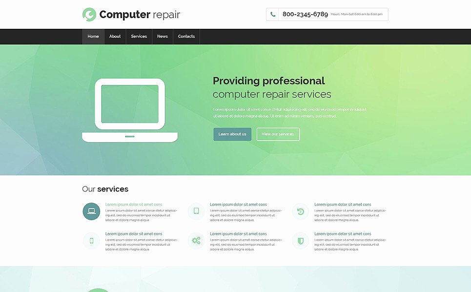 Computer Repair Website Template Lovely Puter Repair Responsive Website Template