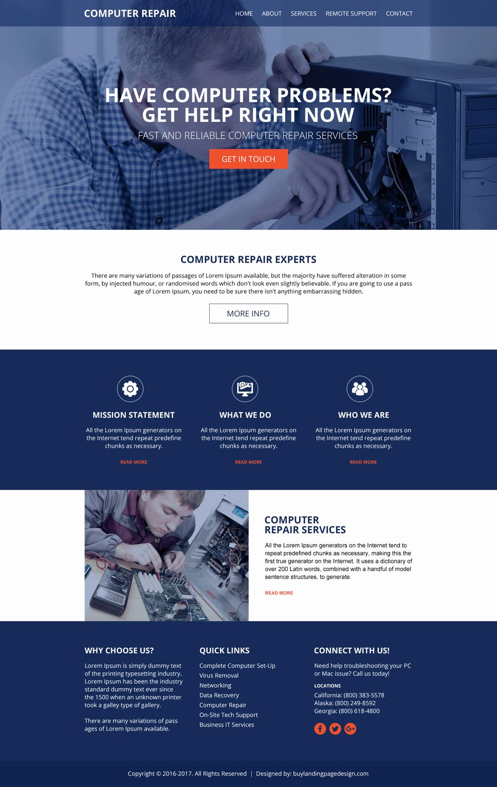 Computer Repair Website Template Lovely Puter Repair Services Website Design Template