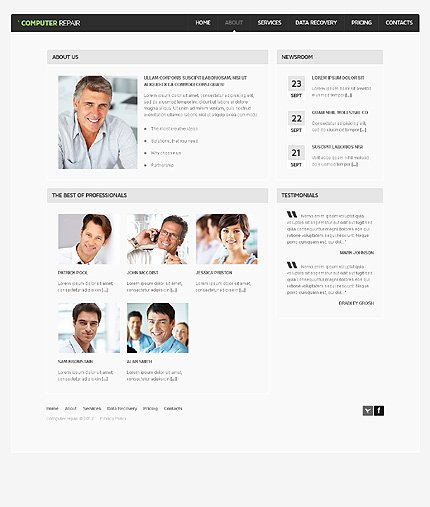 Computer Repair Website Template Lovely Puter Repair Website Template