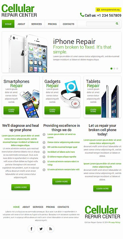 Computer Repair Website Template Luxury Puter Repair Responsive Website Template