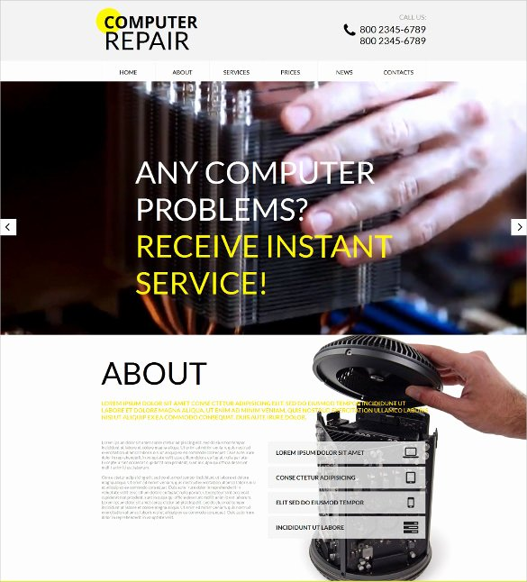 Computer Repair Website Template Unique 25 Puter Repair Website themes & Templates