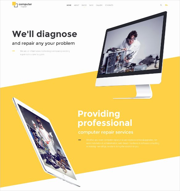 Computer Repair Websites Templates Awesome 28 Puter Repair Website themes & Templates