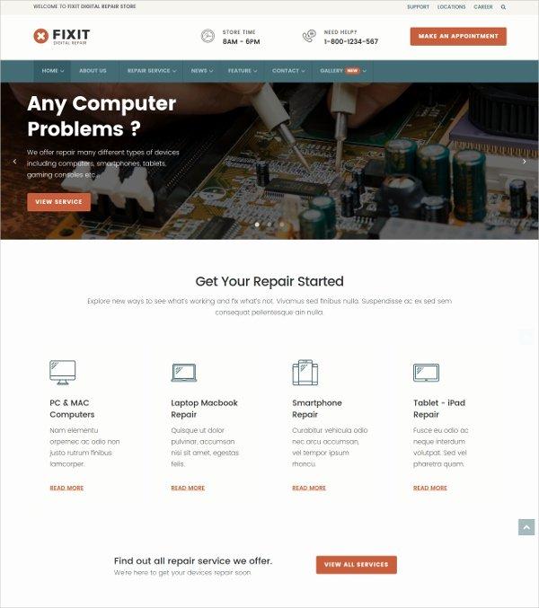 Computer Repair Websites Templates Elegant 10 Puter Repair Joomla themes & Templates