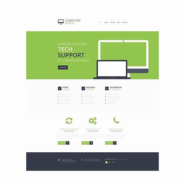 Computer Repair Websites Templates Luxury Puter Repair Responsive Website Template Discounted Templatemonster HTML Website