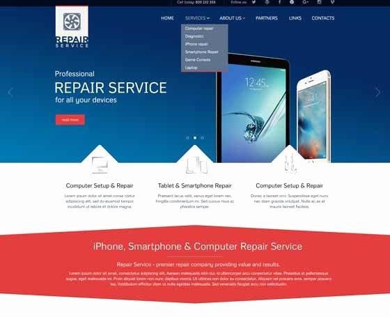 Computer Repair Websites Templates New Puter Repair Website Templates Pc Repair themes
