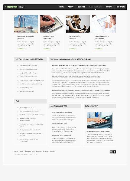 Computer Repair Websites Templates Unique Puter Repair Website Template