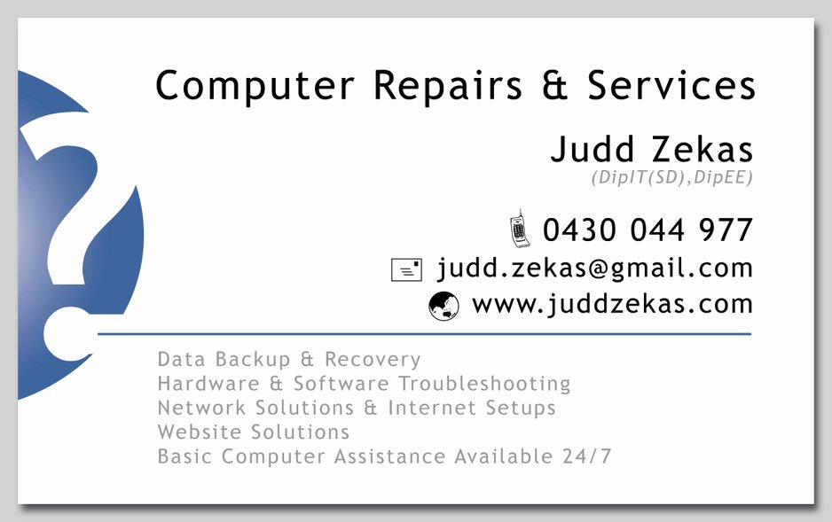 Computer Repairs Business Card Awesome Puter Repairs & assistance In Warburton Vic Puter