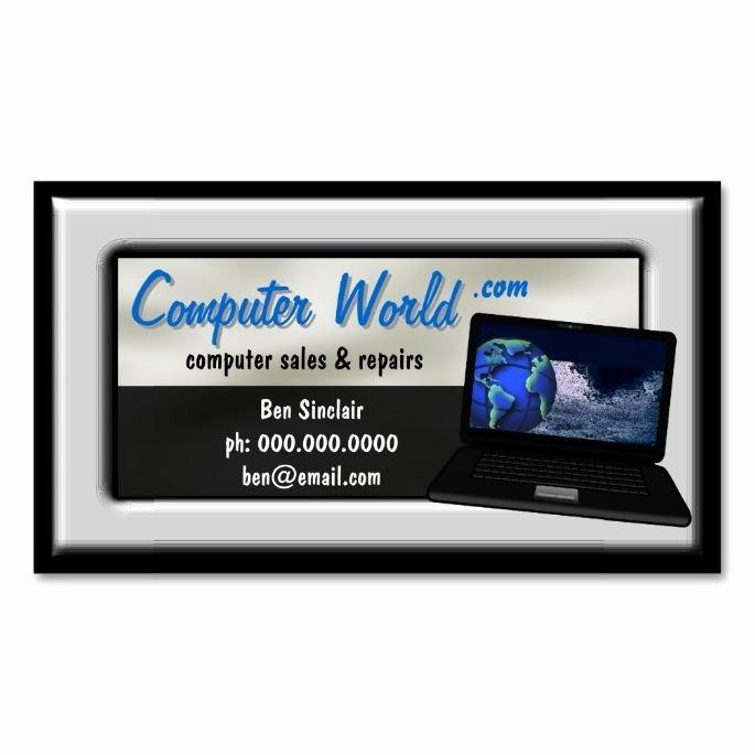 Computer Repairs Business Card Fresh Puter Laptop Sales Repair Business Cards