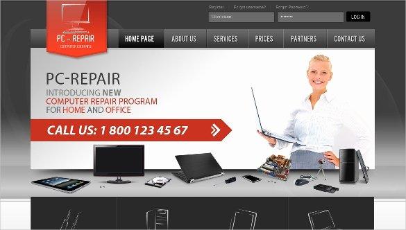 Computer Repairs Website Template Beautiful 28 Puter Repair Website themes & Templates