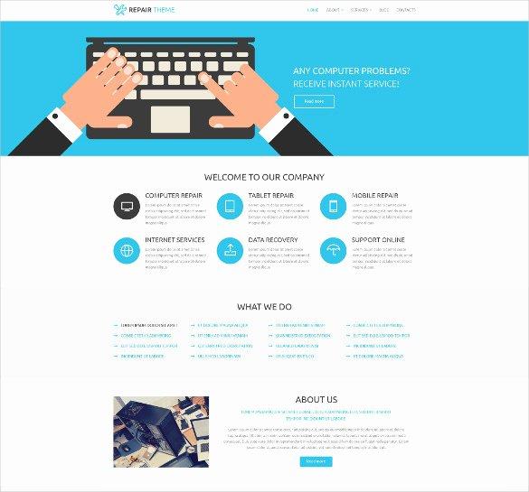 Computer Repairs Website Template Fresh 28 Puter Repair Website themes & Templates