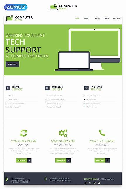 Computer Repairs Website Template Inspirational Download Templatemonster Puter Repair Discount