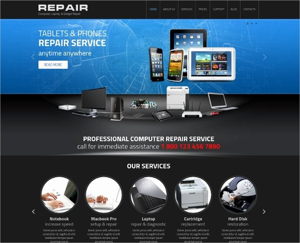 Computer Repairs Website Template Lovely 28 Puter Repair Website themes & Templates