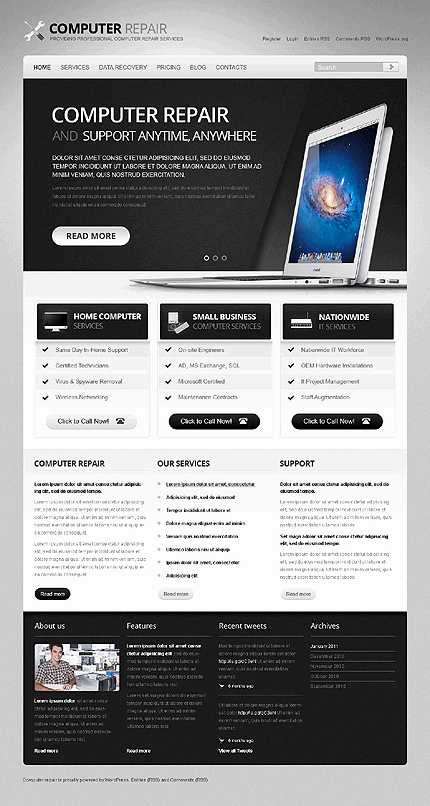 Computer Repairs Website Template Lovely 30 Best Wordpress themes for Beginners