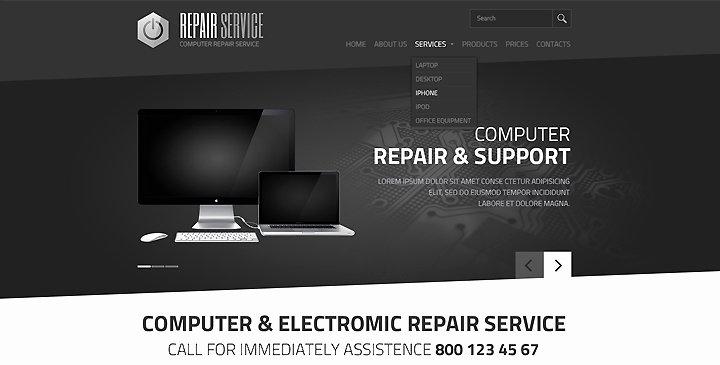 Computer Repairs Website Template New 5 top Ranked Puter Repair Website Templates