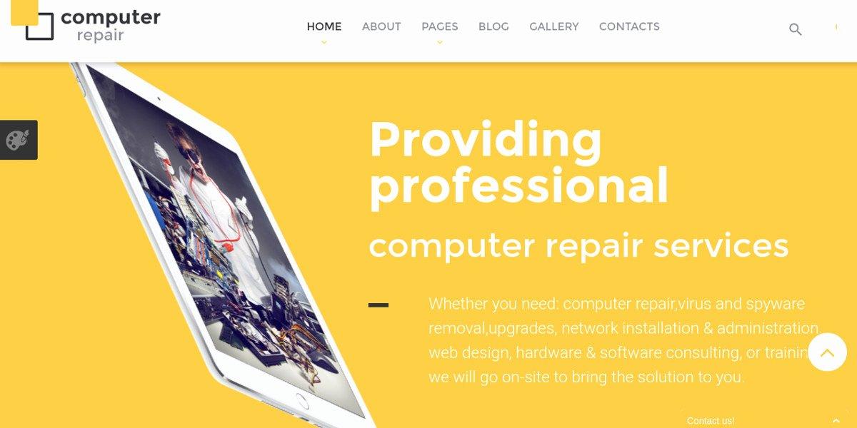 Computer Repairs Website Template Unique 10 Puter Repair Website Templates & themes