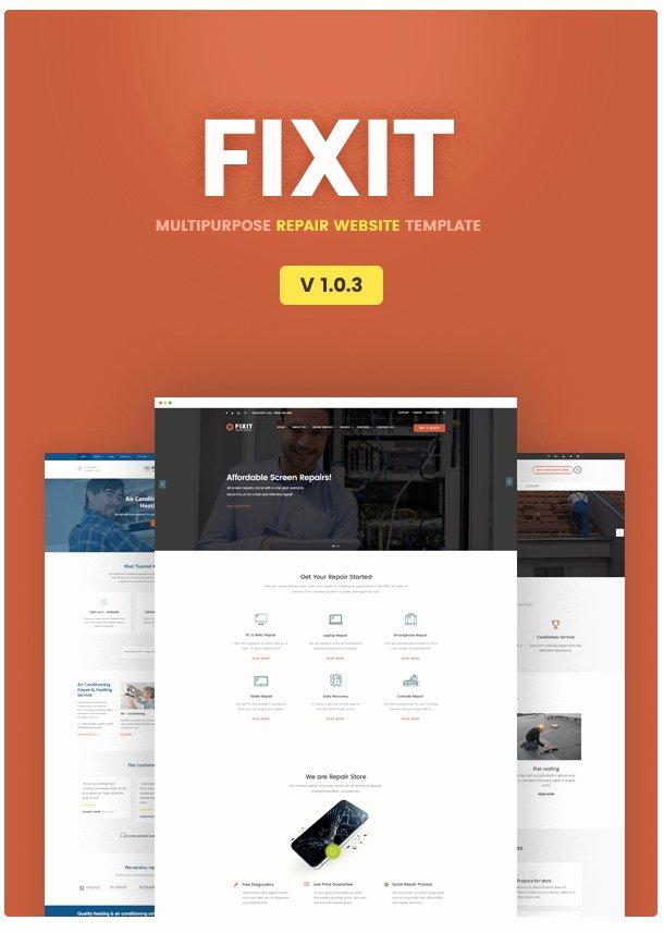 Computer Repairs Website Template Unique Phone Puter Repair Shop Website Template