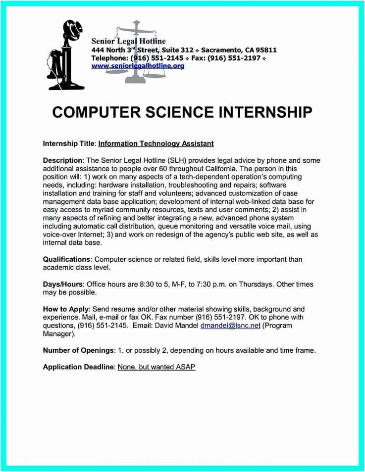 Computer Science Internship Resume Awesome 31 Preferred Puter Science Internship Resume