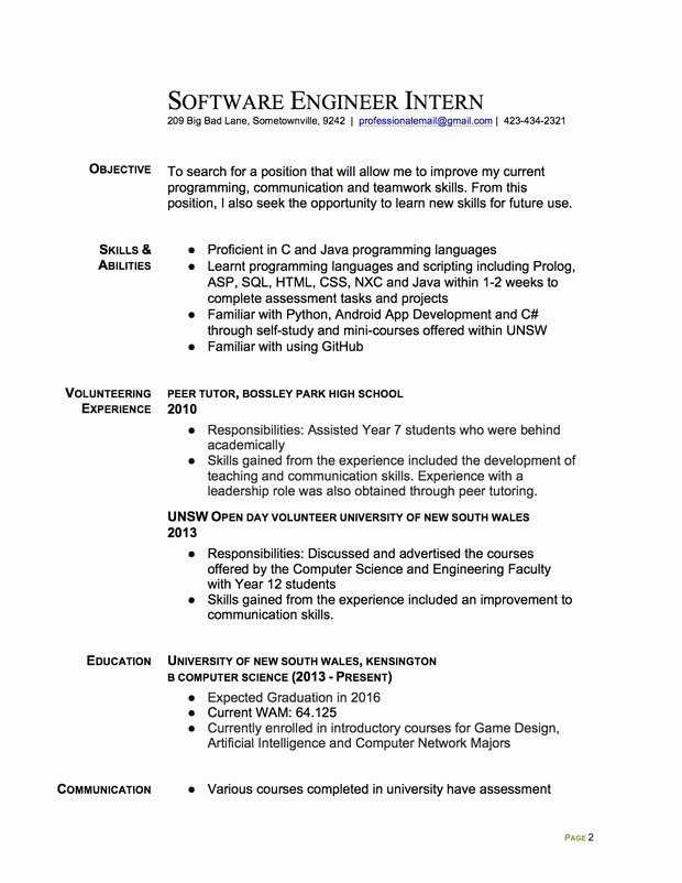 Computer Science Internship Resume Inspirational Join the Redditresume Critique Project