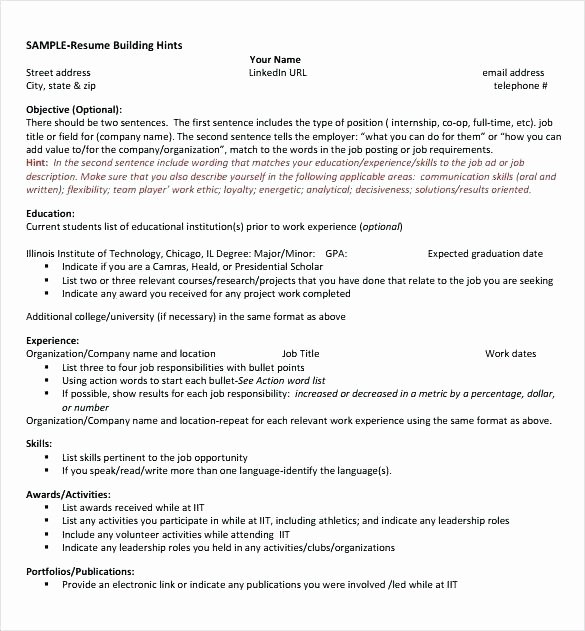 Computer Science Internship Resume New Puter Science Student Resume – Albertogimenob