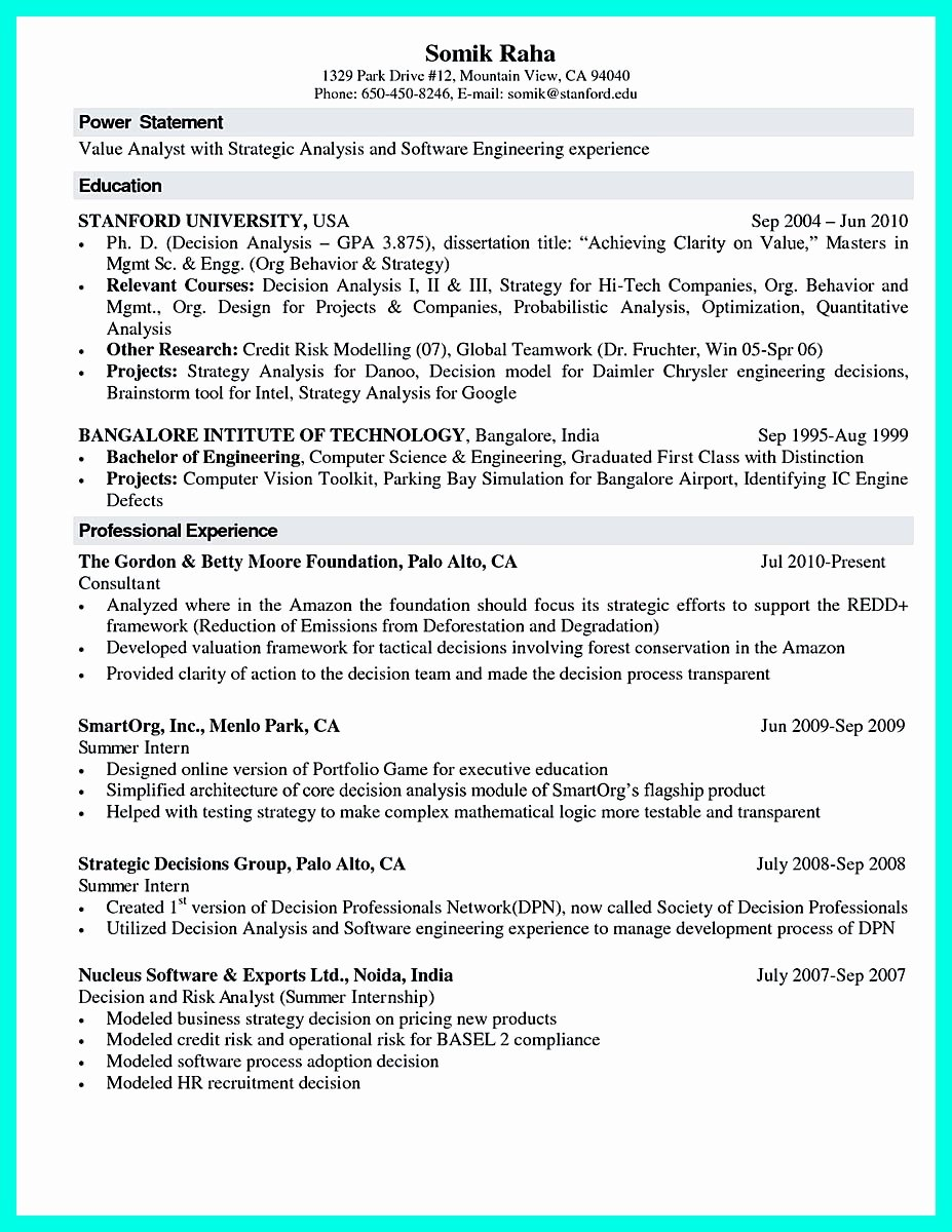 Computer Science Internship Resume Unique the Best Puter Science Resume Sample Collection