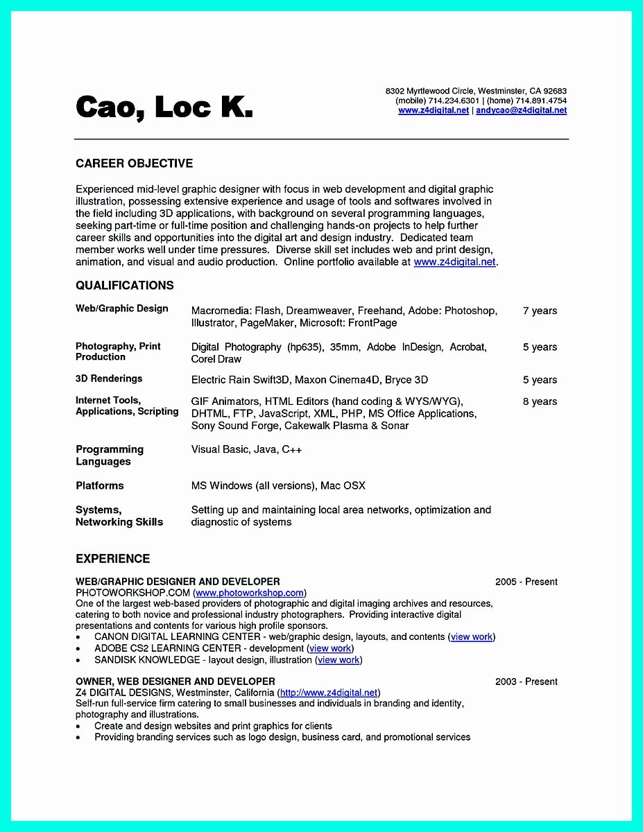 Computer Science Resume Example Awesome the Best Puter Science Resume Sample Collection