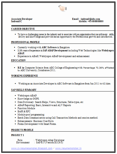 Computer Science Resume Example Best Of Over Cv and Resume Samples with Free Download Puter Science Resume Sample