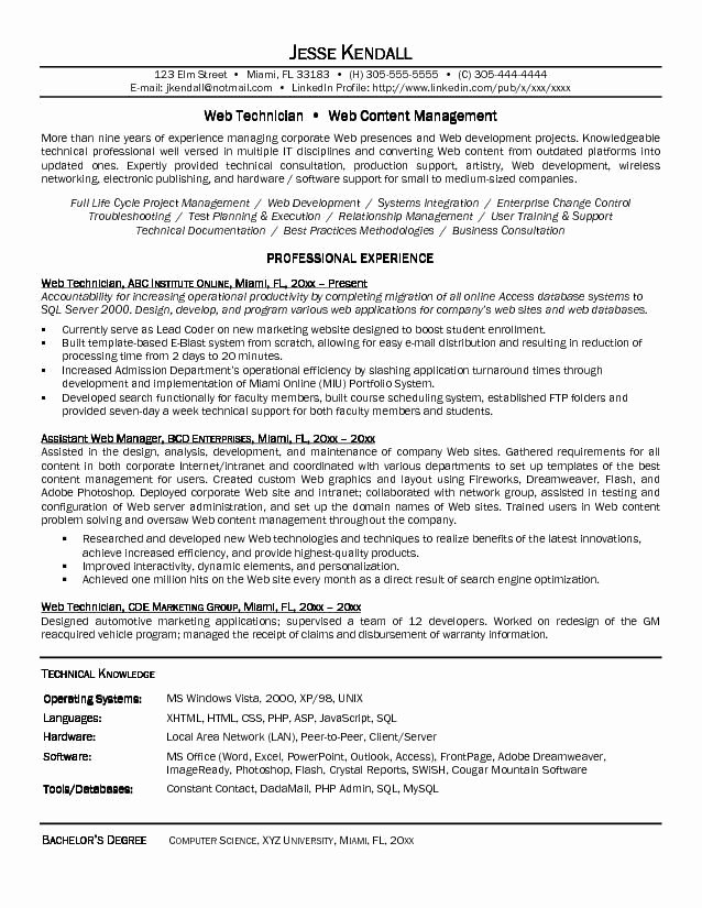 Computer Science Resume Example Elegant Puter Science Resume Sample You Have to Prepare Puter Science Resume Well In This Page