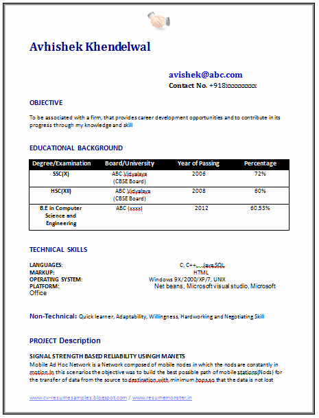 Computer Science Resume Example Luxury Over Cv and Resume Samples with Free Download Puter Science Resume format