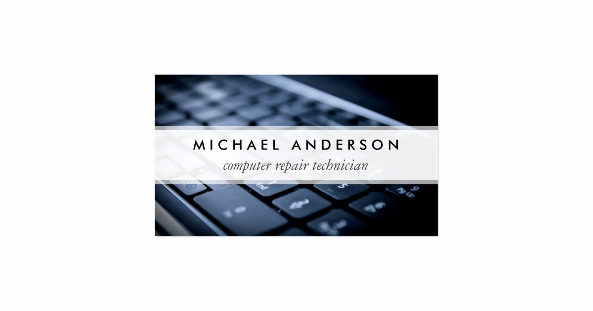 Computer Tech Business Cards Lovely Desktop Laptop Puter Repair Technician Business Card