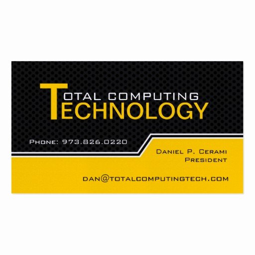 Computer Tech Business Cards Luxury Custom Puter Technician Business Card